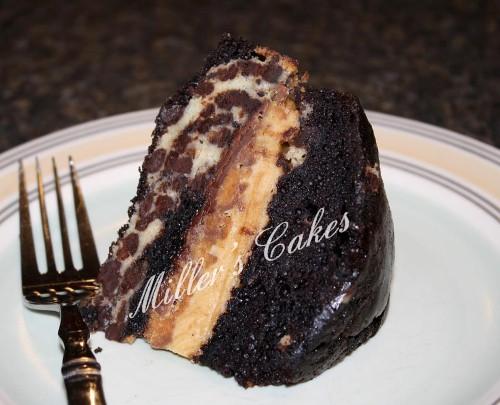 Chocolate/Peanut Butter Leopard Cake
